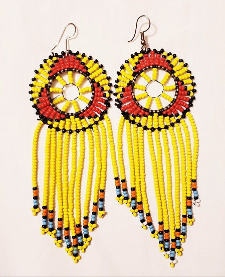 Hand-beaded Earrings - Kenya