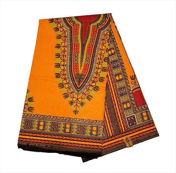 Dashiki - Orange with Red