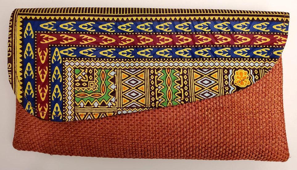 Dashiki Print Clutch
