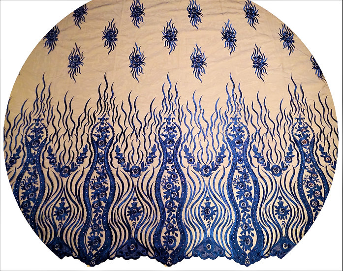 Royal Blue African Lace