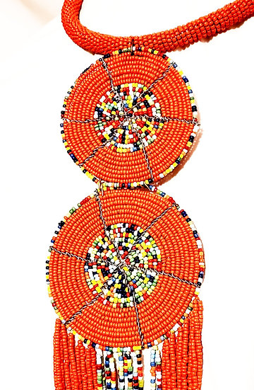 Hand-beaded Necklace - Kenyan