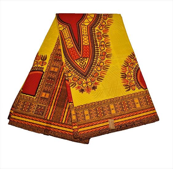 Dashiki - Yellow with Red