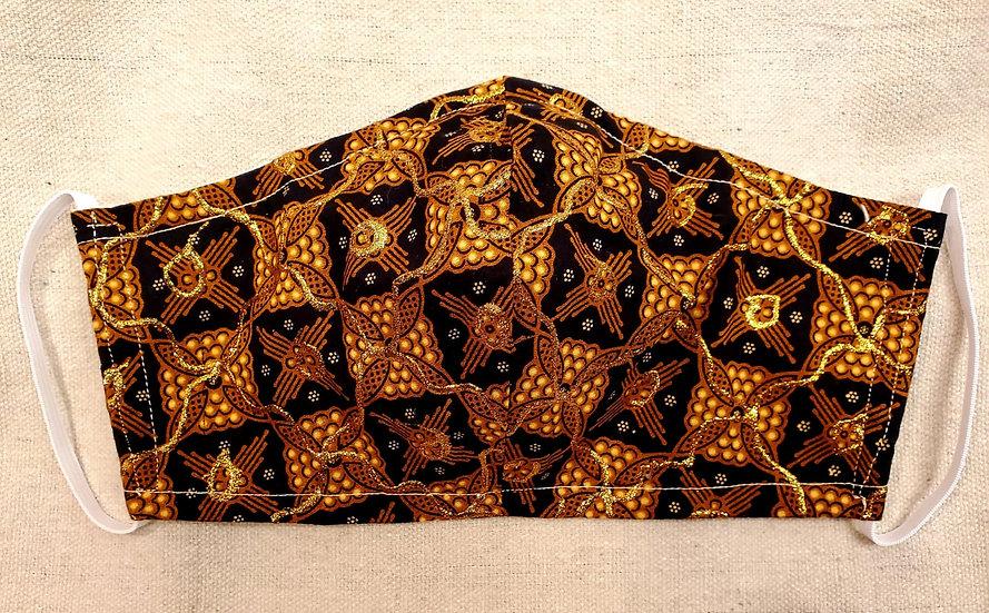 Brilliant Brown & Gold Mask