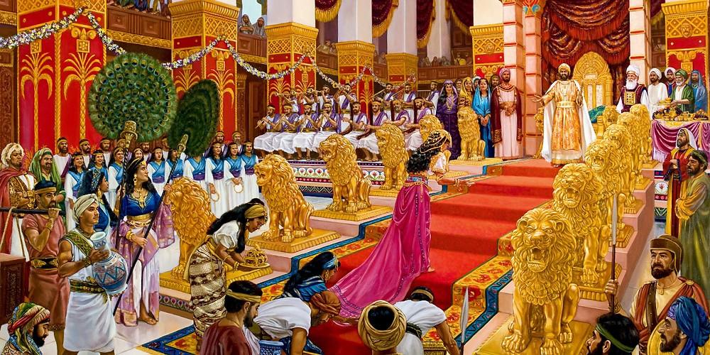 Trono de Salomão (Imagem: Site jw.org)