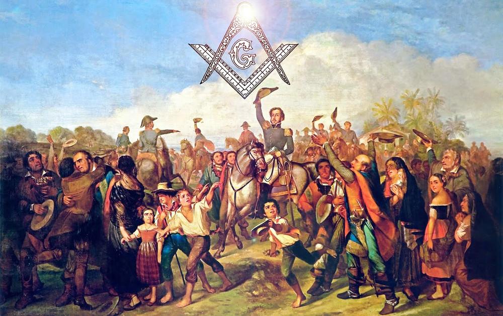 O maçom Dom Pedro I no grito do Ipiranga. Independência e a Maçonaria (Imagem: Site Brasil que Pensa)