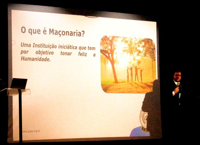 Rodrigo Delamura, Secretário de Relações Internas e Externas do GOISP, palestrante do Dia do Maçom (Foto: DCM - GOISP)