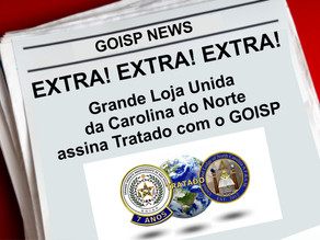 Extra! Extra! Extra! GOISP assina tratado com Grande Loja Unida da Carolina do Norte