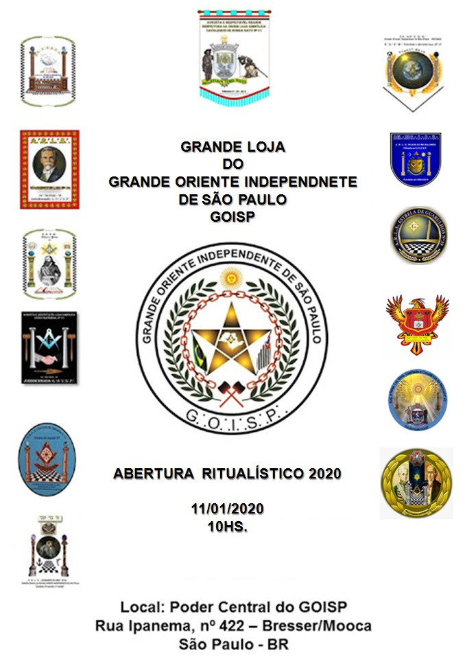 Flyer da Abertura Ritualística GOISP 2020