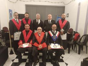 Delegado Regional do Litoral Sul de São Paulo do GOISP visita A∴R∴L∴S∴ Sagrada Romã
