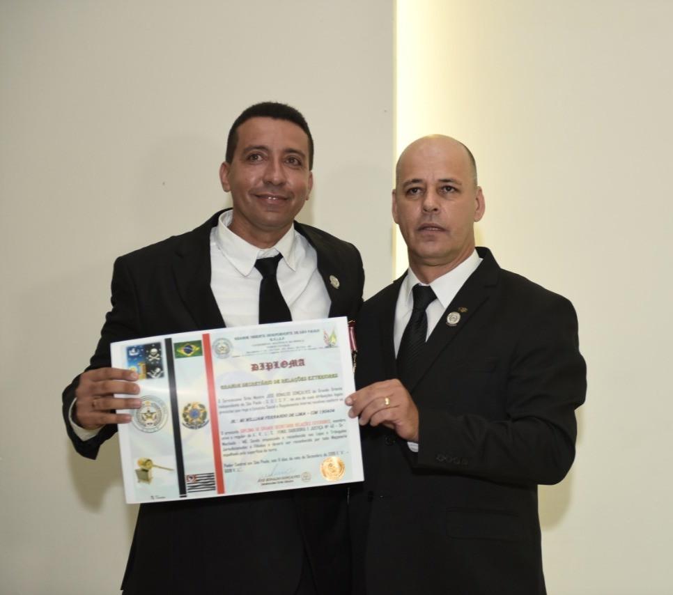 O Venerável Mestre Willian Fabiano é nomeado Secretário de Relações Internacionais do GOISP (Foto: Sonefotos)
