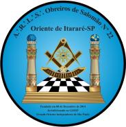 Logotipo da Augusta e Respeitável Loja Simbólica Obreiros de Salomão, nº 22 - Oriente de Itararé (SP) (Imagem: DCM GOISP)