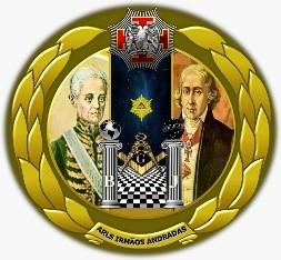 Logotipo da Augusta e Respeitável Loja Simbólica Irmãos Andrada, nº 42 - Oriente de Santos (SP) - GOISP (Imagem: Diretoria de Comunicação e Marketing GOISP)