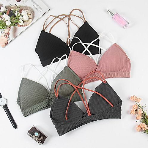 Cotton, Wireless Push Up Bralettes