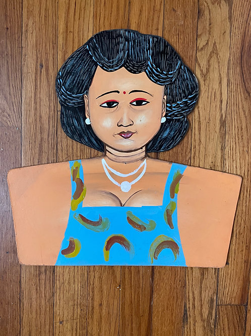 Incredible Hand-Painted Sign Lady