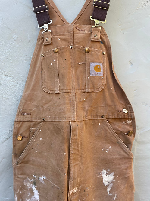 Vintage and Well Worked-In Carhartt Overalls 32x30