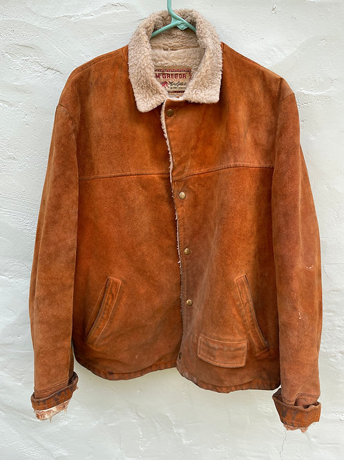 The Coolest Suede and Sherpa Rancher Jacket