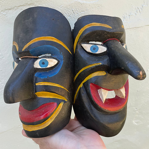 Pair of Hand Carved Masks