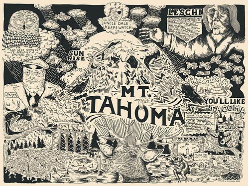 Mt. Tahoma Archival Giclee Print
