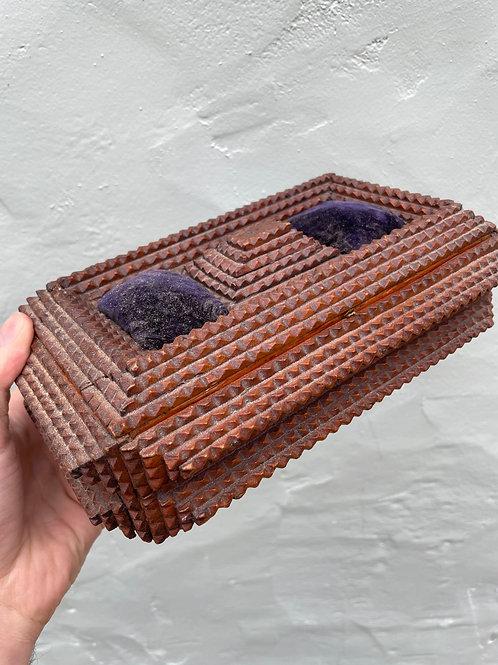 Turn of the Century Tramp Art Box - Well Done