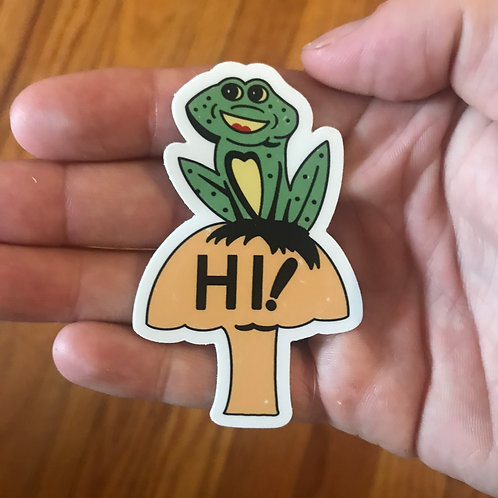 Hi! Frog Sticker