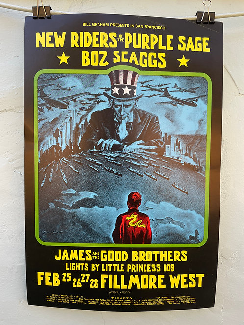 New Riders of The Purple Sage Fillmore West Poster