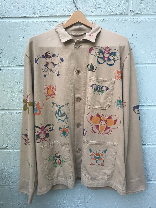Hand Painted Butterfly Jacket Large