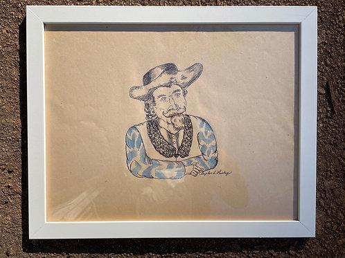 Original Buffalo Bill Drawing