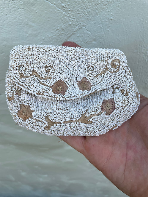 Turn of the Century Hand Beaded Belt Pouch