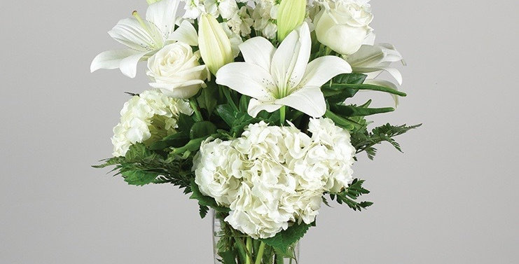 All white sympathy in a vase
