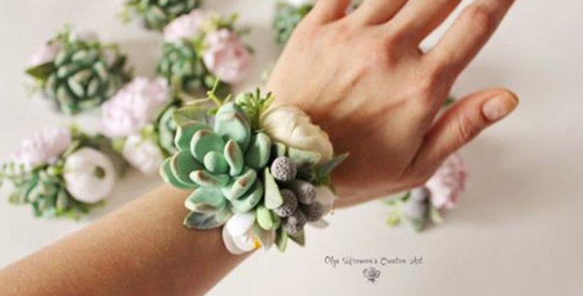 Succulent Wristlet