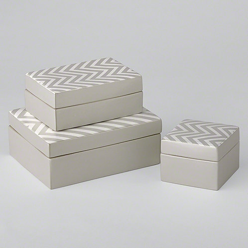 Chevron Matte-Metal Box