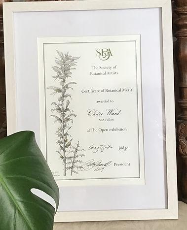 Certificate of Botanical Merit 2019