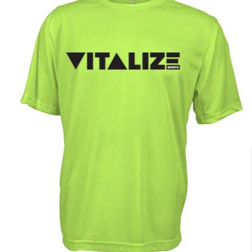 Vitalize Men's Dri Fit Performance Shirt Green/Black