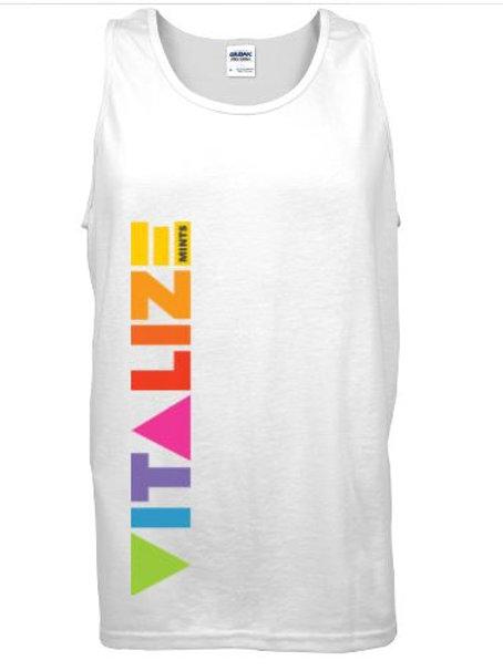 Vitalize White Tank Top w/ Color Logo