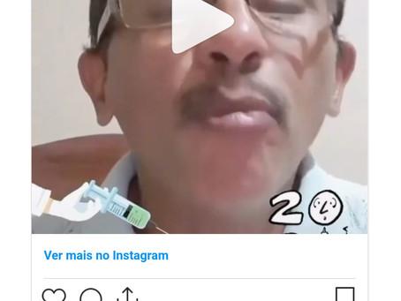 Cantor de 'Caneta Azul' divulga nova música: 'Vamos Vacinar'