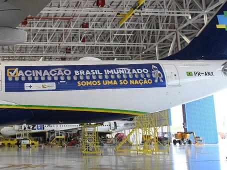 Avião que vai buscar vacinas na Índia decola hoje as 23h do Recife