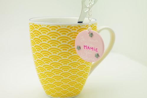 Cuillère à thé médaillon message MAMIE