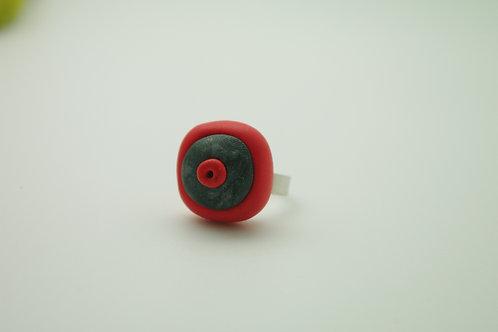 bague PETIT modèle rouge et grise