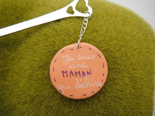 Cuillère à thé médaillon message MAMAN