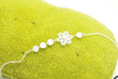 HEADBAND fleur filigrane blanche