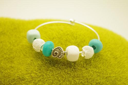 Bracelet JONC  perles turquoise