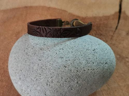 bracelet fimo cuir mixte homme/femme marron