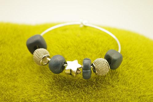 Bracelet JONC  perles marine