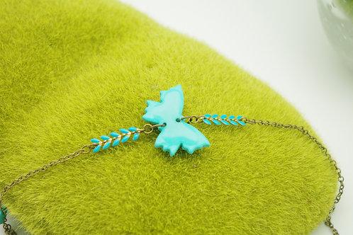 HEADBAND papillon  turquoise