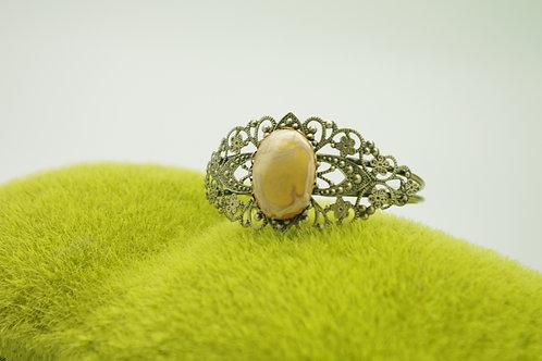 Bracelet filigrane JONC BRONZE doré émaillé