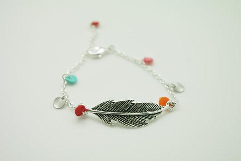 Bracelet  CHEYENNE plume argent