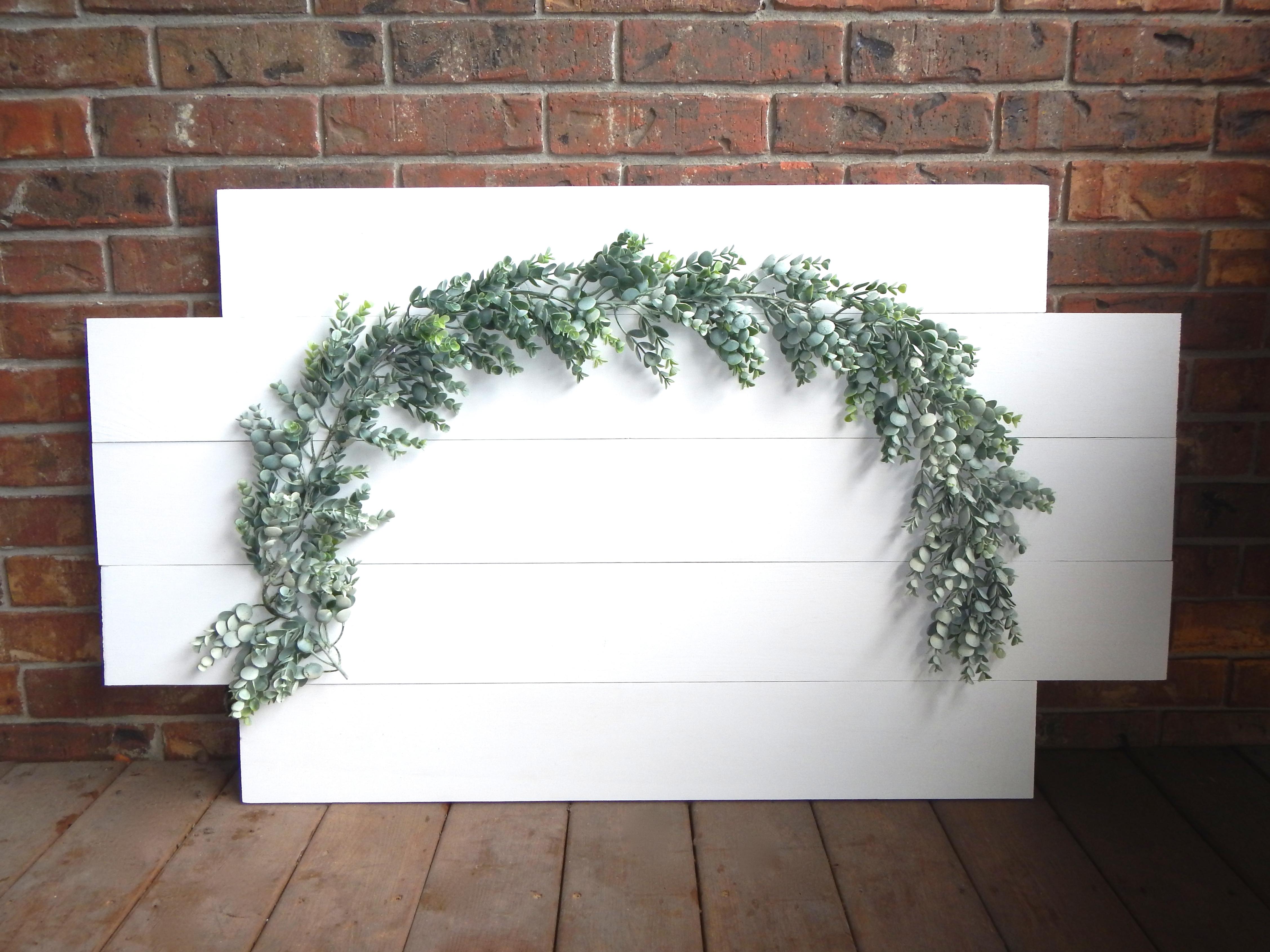 Medium Eucalyptus Garland on White