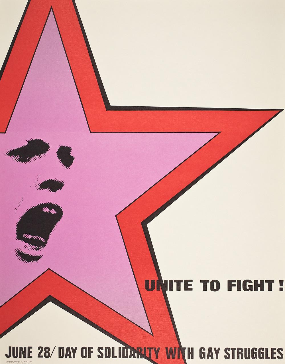 """Unite to Fight!"" Donna Pillar, Offset, 1976"