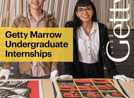 2020 Getty Marrow Undergraduate Summer Internships