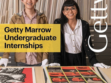 2020 Getty Marrow Undergraduate Summer Internships
